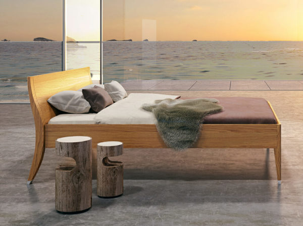 bed at seaside