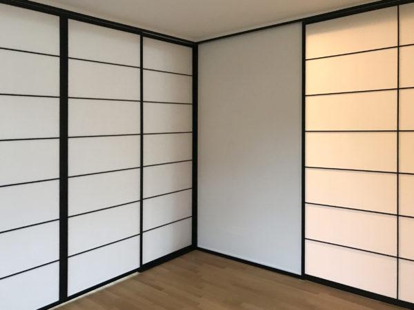 Japanische Schiebetüren, Flächenvorhänge