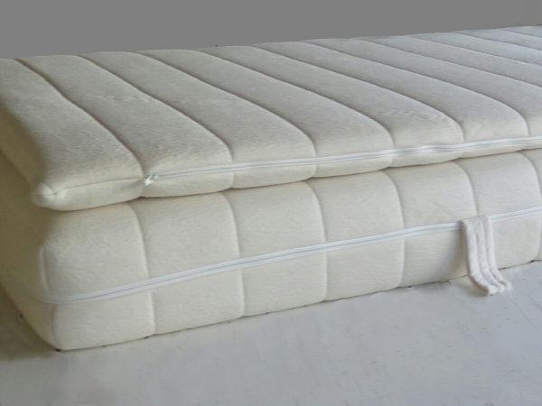 natural latex mattress with overlay mattress