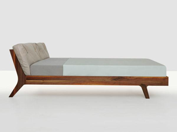 Filigree solid wood bed