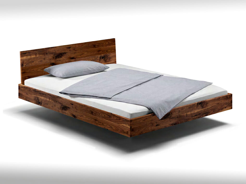 Bed without metal connectors