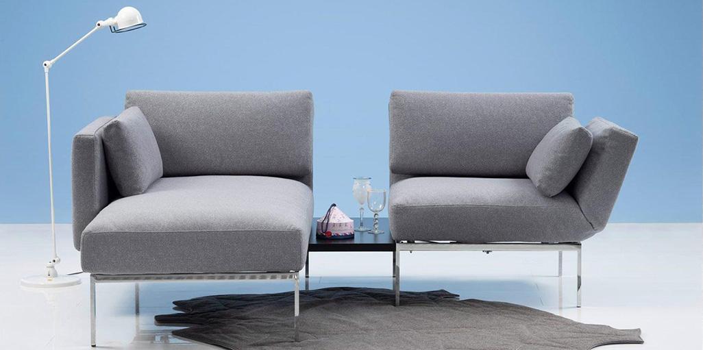 Sofa mit Chaiselongue bei bios affair Frankfurt