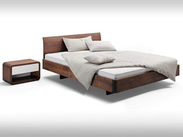 bed in walnut