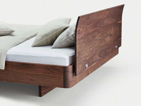 bed in walnut