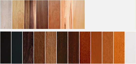 Farben und Holzmuster