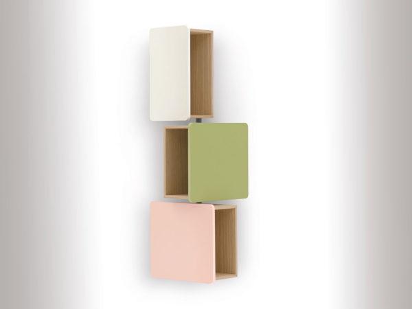 Container in denzent abgestuften Farben