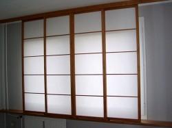 Shoji vor dem Fenster