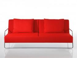 Square in kraftvollem Rot